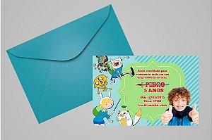 Convite 10x15 Hora de Aventura 003 com foto