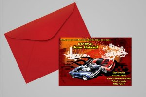 Convite 10x15 Hot Wheels 004