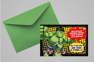 Convite 10x15 O Incrível Hulk 001