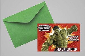 Convite 10x15 O Incrível Hulk 004