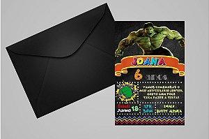 Convite 10x15 O Incrível Hulk 007
