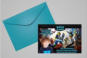 Convite 10x15 Lego 004 com foto