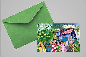 Convite 10x15 Lilo & Stitch 001