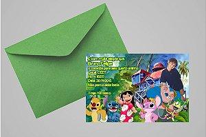 Convite 10x15 Lilo & Stitch 001 com foto