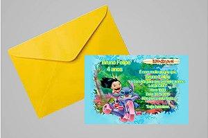 Convite 10x15 Lilo & Stitch 002