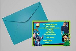 Convite 10x15 Lilo & Stitch 003 com foto