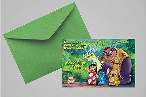 Convite 10x15 Lilo & Stitch 004