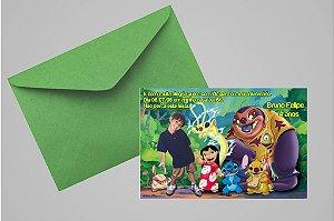 Convite 10x15 Lilo & Stitch 004 com foto