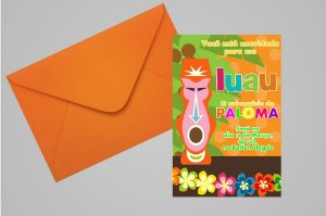 Convite 10x15 Luau 005