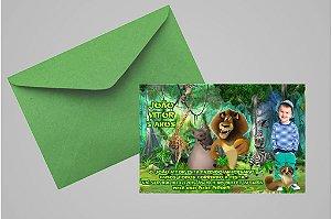 Convite 10x15 Madagáscar 001 com foto
