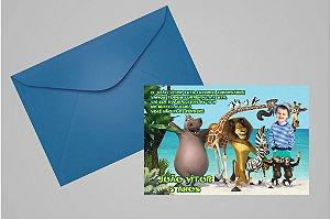 Convite 10x15 Madagáscar 002 com foto