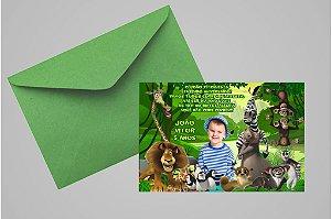 Convite 10x15 Madagáscar 003 com foto