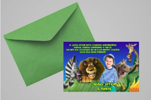 Convite 10x15 Madagáscar 004 com foto