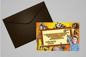 Convite 10x15 Madagáscar 012 com foto