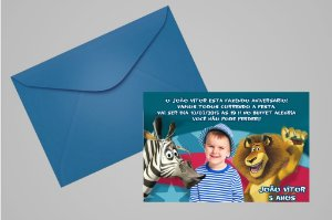 Convite 10x15 Madagáscar 014 com foto