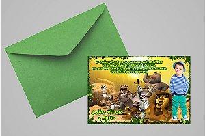 Convite 10x15 Madagáscar 015 com foto