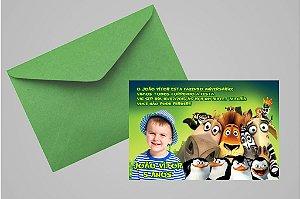 Convite 10x15 Madagáscar 020 com foto