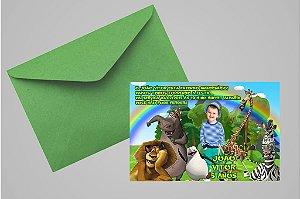 Convite 10x15 Madagáscar 021 com foto