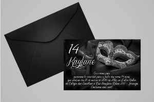 Convite 10x15 Mascara 003