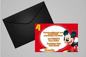 Convite 10x15 Mickey Mouse 002