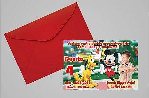 Convite 10x15 Mickey Mouse 006 com foto