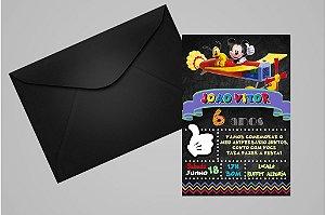Convite 10x15 Mickey Mouse 008