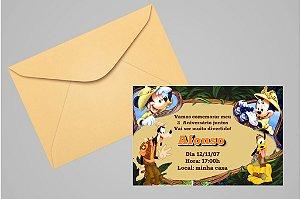 Convite 10x15 Mickey Safari 001