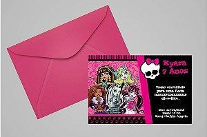Convite 10x15 Monster High 001