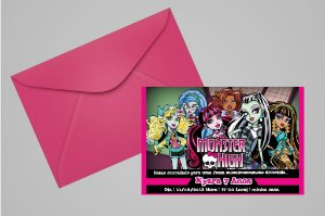 Convite 10x15 Monster High 003