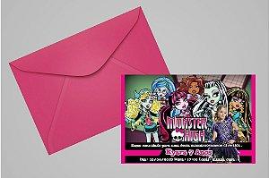 Convite 10x15 Monster High 003 com foto