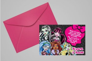 Convite 10x15 Monster High 004