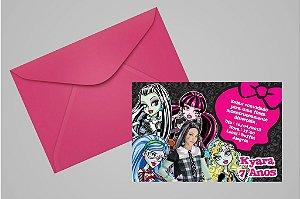Convite 10x15 Monster High 004 com foto