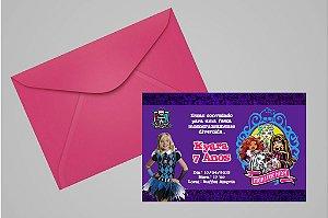 Convite 10x15 Monster High 005 com foto