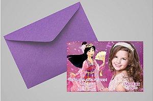 Convite 10x15 Mulan 001 com foto