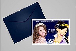 Convite 10x15 Mulan 002 com foto