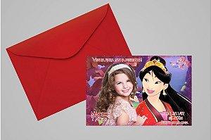 Convite 10x15 Mulan 006 com foto
