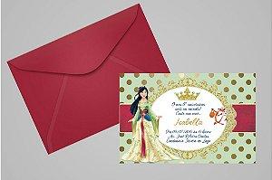 Convite 10x15 Mulan 009 com foto