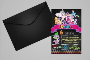 Convite 10x15 My Little Pony 008