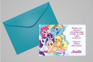 Convite 10x15 My Little Pony 009