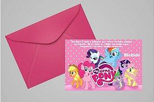 Convite 10x15 My Little Pony 010