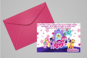 Convite 10x15 My Little Pony 011