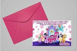 Convite 10x15 My Little Pony 011
