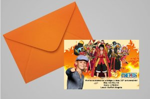 Convite 10x15 One Piece 002 com foto