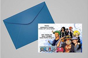 Convite 10x15 One Piece 004 com foto