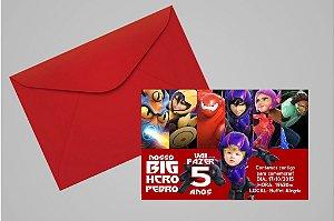 Convite 10x15 Operação Big Hero 002 com foto