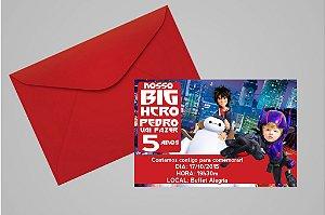 Convite 10x15 Operação Big Hero 004 com foto