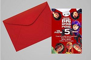 Convite 10x15 Operação Big Hero 008 com foto