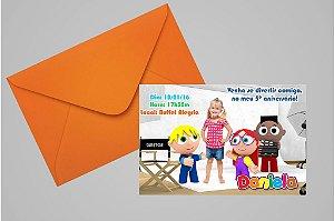 Convite 10x15 Os Pequerruchos 004 com foto