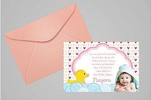 Convite 10x15 Patinho Amarelinho 002 com foto