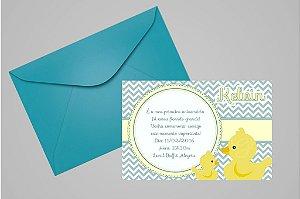 Convite 10x15 Patinho Amarelinho 003